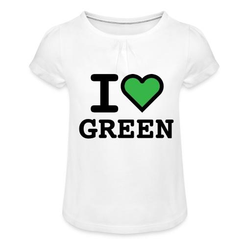 i-love-green-2.png - Maglietta da ragazza con arricciatura