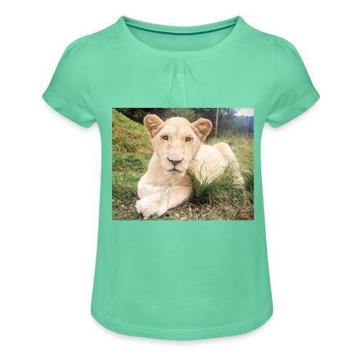 10536 2Cmoomba groot - Girl's T-Shirt with Ruffles