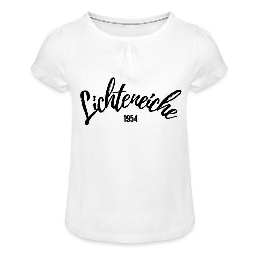 Lichteneiche 1954 - Mädchen-T-Shirt mit Raffungen