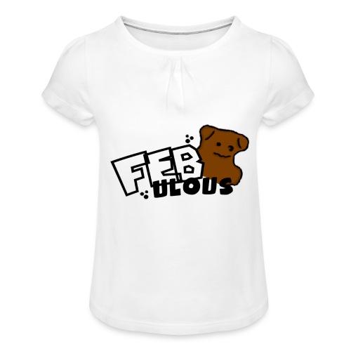 SOGailjaja - Girl's T-Shirt with Ruffles