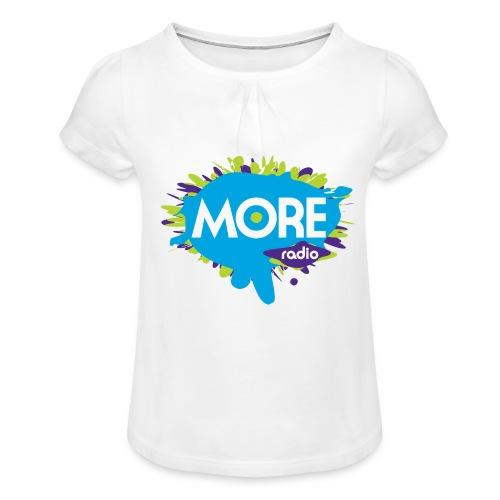 More Radio 2017 - Meisjes-T-shirt met plooien
