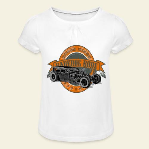 Raredog Rods Logo - Pige T-shirt med flæser