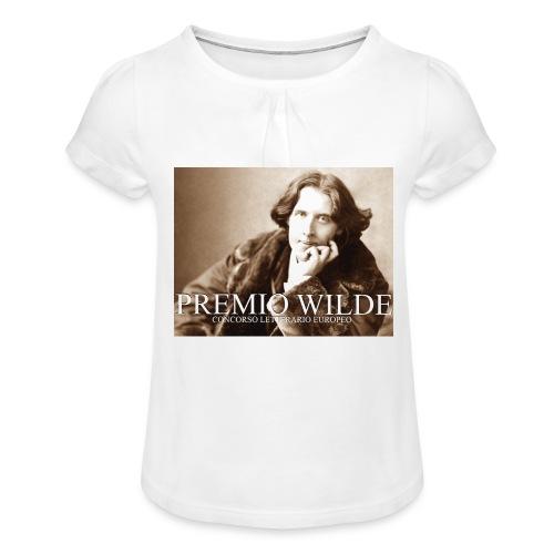 Wilde european award - Maglietta da ragazza con arricciatura