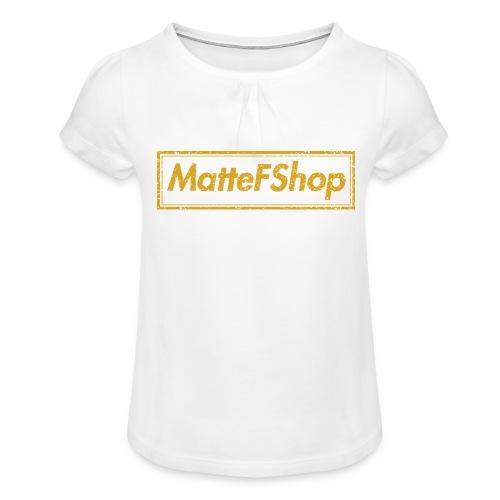 Gold Collection! (MatteFShop Original) - Maglietta da ragazza con arricciatura