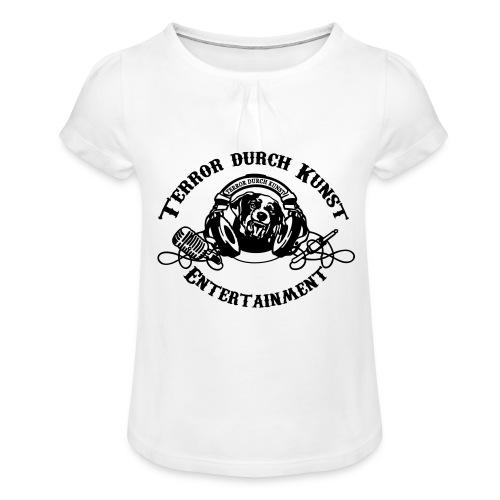 tdklogoschwarz 3 - Mädchen-T-Shirt mit Raffungen