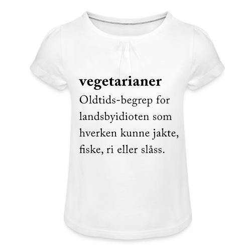 Vegetarianer definisjon - Jente-T-skjorte med frynser