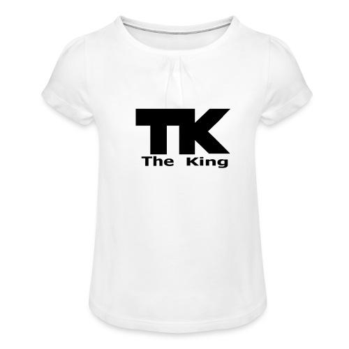 The King med ram - T-shirt med rynkning flicka
