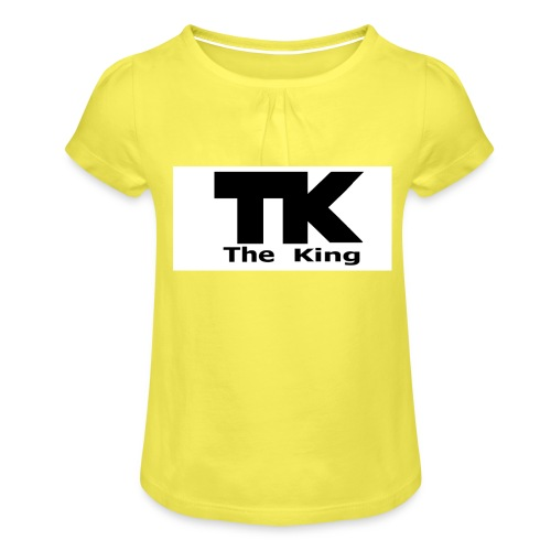 The King med ram - T-shirt med rynkning flicka