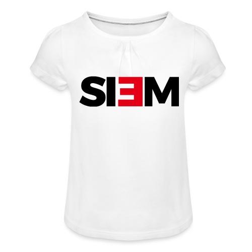 siem_zwart - Meisjes-T-shirt met plooien
