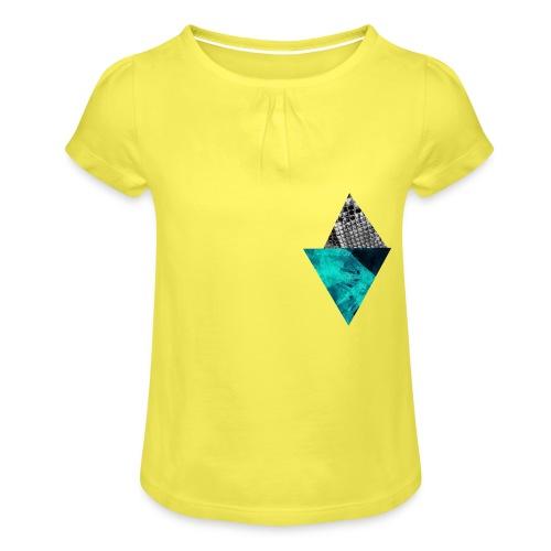 Blue Dream - Mädchen-T-Shirt mit Raffungen