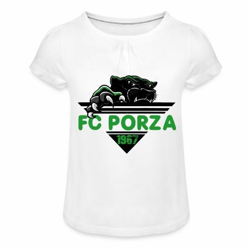 FC Porza 1 - Mädchen-T-Shirt mit Raffungen