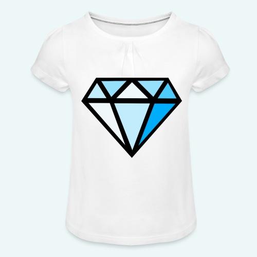 FCTimantti logo ilman tekstia - Tyttöjen t-paita, jossa rypytyksiä