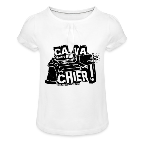 gastrogun - T-shirt à fronces au col Fille