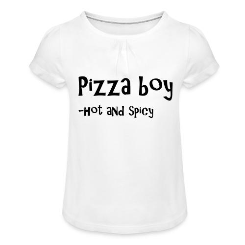 Pizza boy - Jente-T-skjorte med frynser