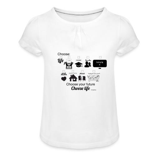 trainspotting - Camiseta para niña con drapeado