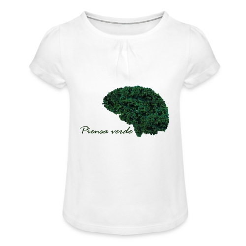 Piensa verde - Camiseta para niña con drapeado