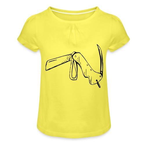 jacknife - Maglietta da ragazza con arricciatura
