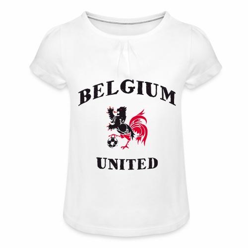 Belgium Unit - Girl's T-Shirt with Ruffles