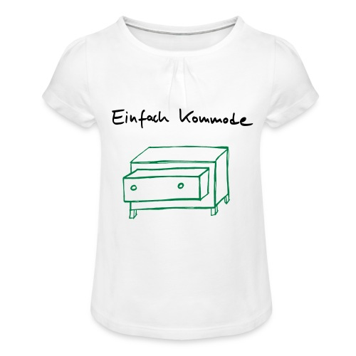 Einfach Kommode - Mädchen-T-Shirt mit Raffungen