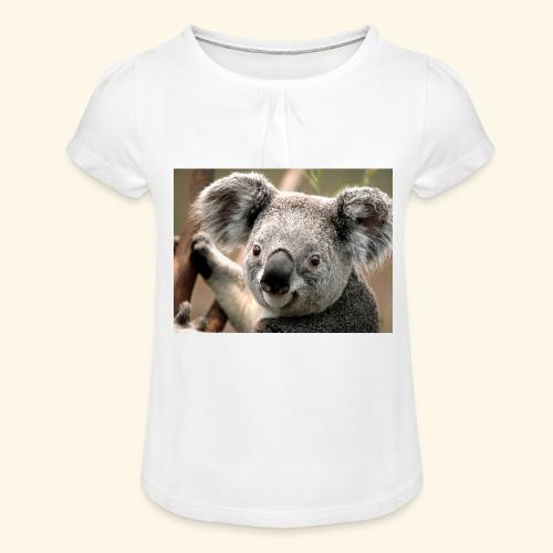 Koala - Mädchen-T-Shirt mit Raffungen