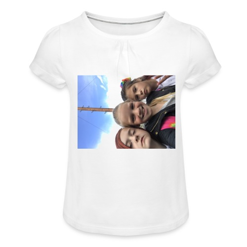 IMG 0917 - Girl's T-Shirt with Ruffles