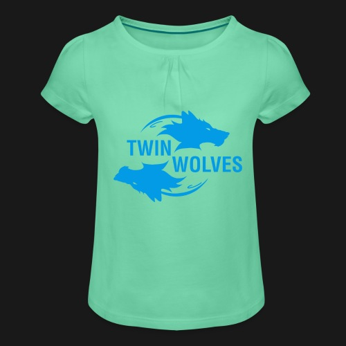 Twin Wolves Studio - Maglietta da ragazza con arricciatura