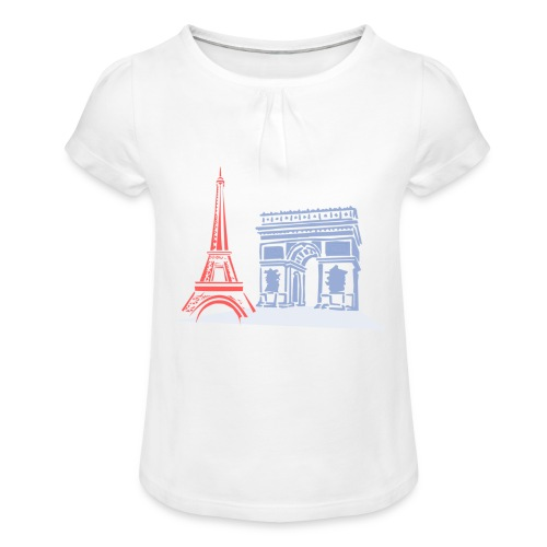 Paris - T-shirt à fronces au col Fille