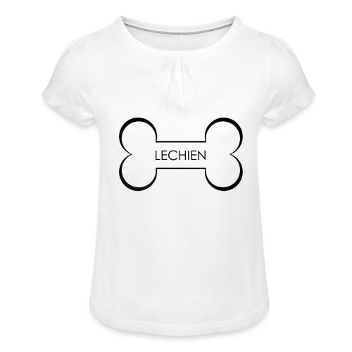 LeChien - Maglietta da ragazza con arricciatura