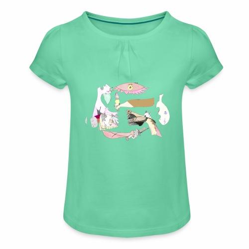 Pintular - Camiseta para niña con drapeado