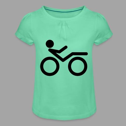 Recumbent bike black 2 - Tyttöjen t-paita, jossa rypytyksiä