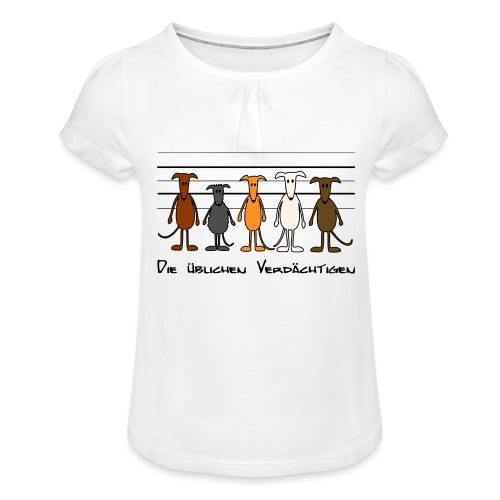 Die üblichen Verdächtigen - Mädchen-T-Shirt mit Raffungen
