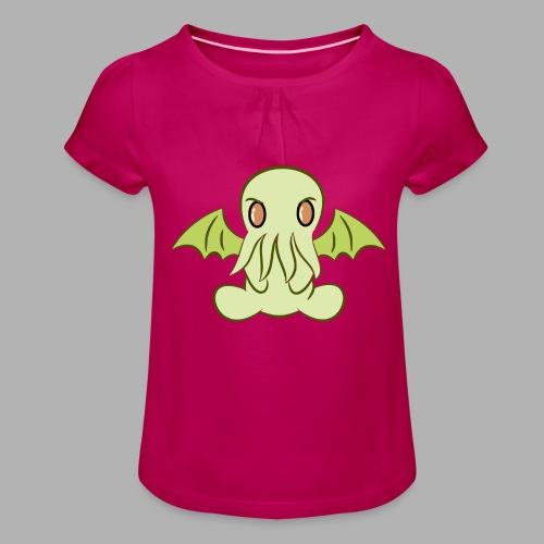 Cute-thulhu - T-shirt à fronces au col Fille
