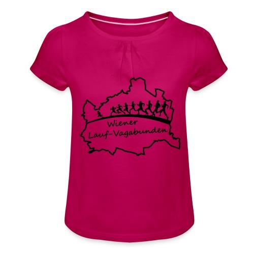 Laufvagabunden T Shirt - Mädchen-T-Shirt mit Raffungen