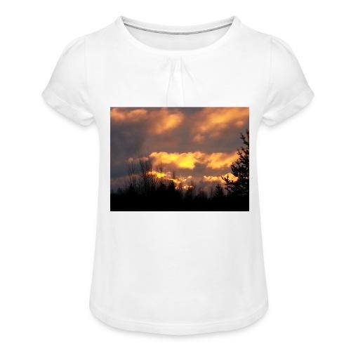 Iltarusko - Tyttöjen t-paita, jossa rypytyksiä