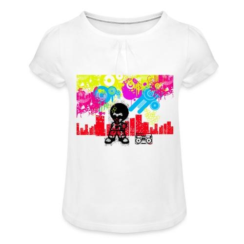 Magliette personalizzate bambini Dancefloor - Maglietta da ragazza con arricciatura