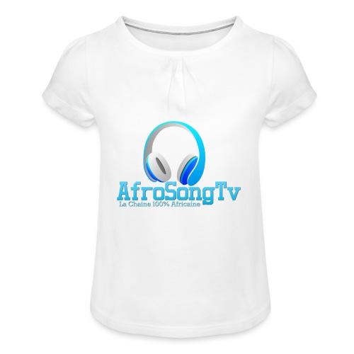 logo - Camiseta para niña con drapeado