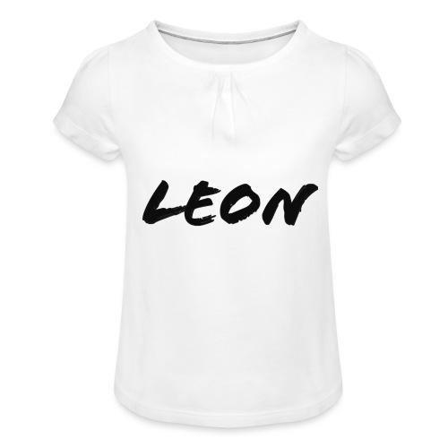 Leon - T-shirt à fronces au col Fille