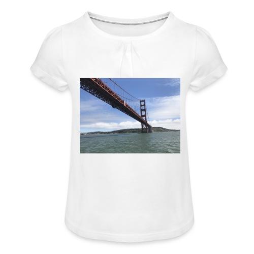Golden Bro - Pige T-shirt med flæser