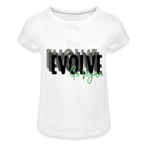 Evolve go Vegan - Girl's T-Shirt with Ruffles