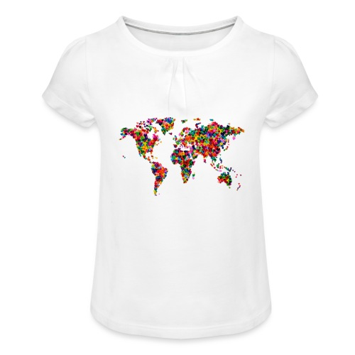 World Love - T-shirt à fronces au col Fille