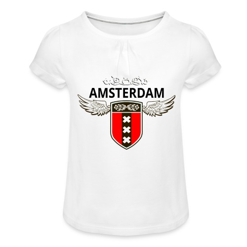 Amsterdam Netherlands - Mädchen-T-Shirt mit Raffungen