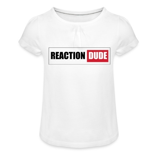 ReactionDude Gear - T-shirt à fronces au col Fille