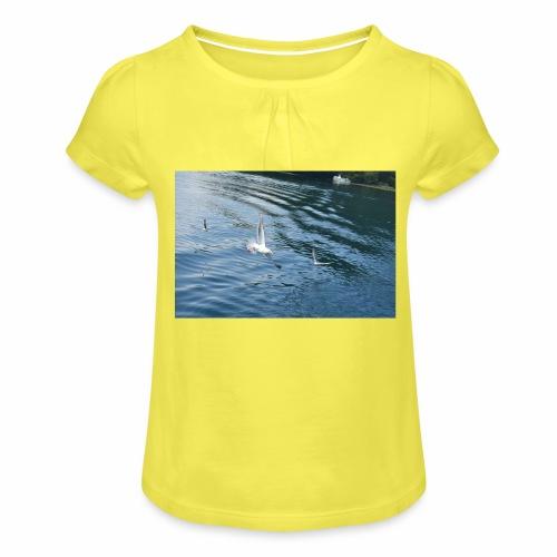 un Gabbiano che vola - Maglietta da ragazza con arricciatura