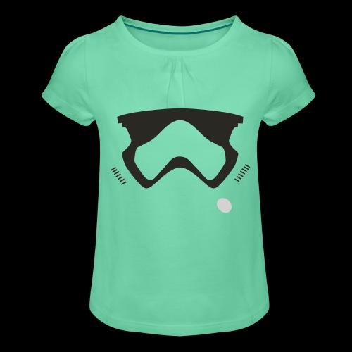 Modern Stormtrooper Face - Girl's T-Shirt with Ruffles
