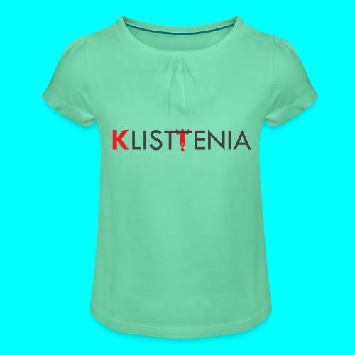 KLALISTENIA - Camiseta para niña con drapeado