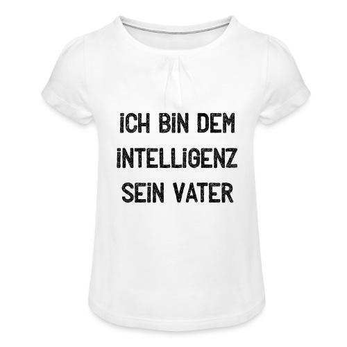 Abschluss T-Shirt Abipulli Abishirt Sprüche - Mädchen-T-Shirt mit Raffungen