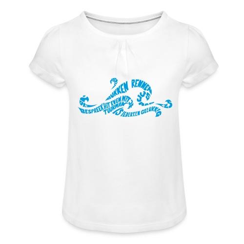 EZS T shirt 2013 Front - Meisjes-T-shirt met plooien