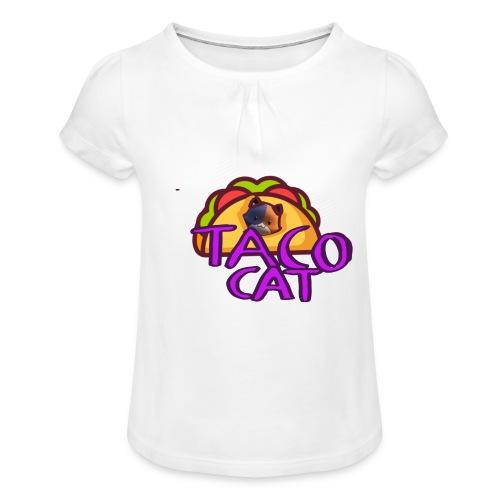 TACO CAT - T-shirt med rynkning flicka