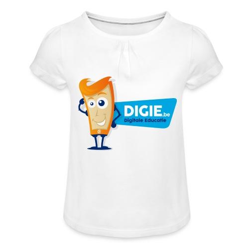 Digie.be - Meisjes-T-shirt met plooien