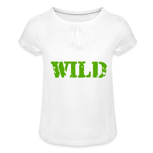 wild - Maglietta da ragazza con arricciatura